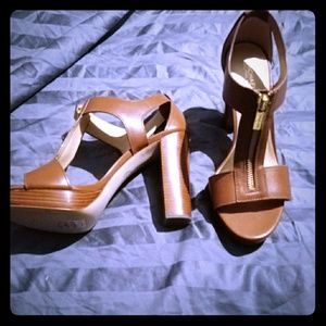 Michael kors brown high heel sandels